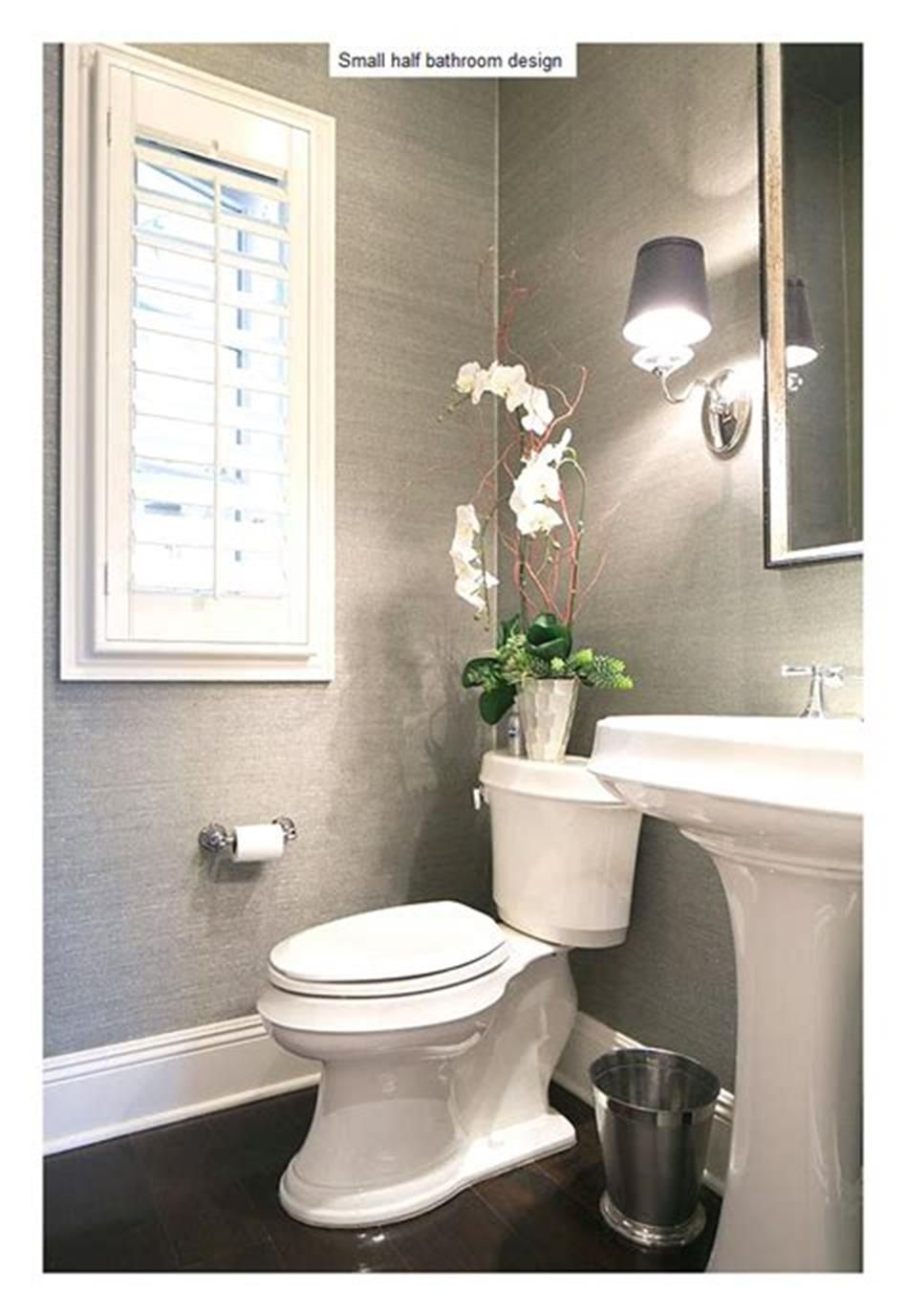 43 Cute Half Bathroom Ideas That Will Impress You 30 Homenthusiastic Small Half Bathrooms Half Bathroom Small Bathroom Remodel