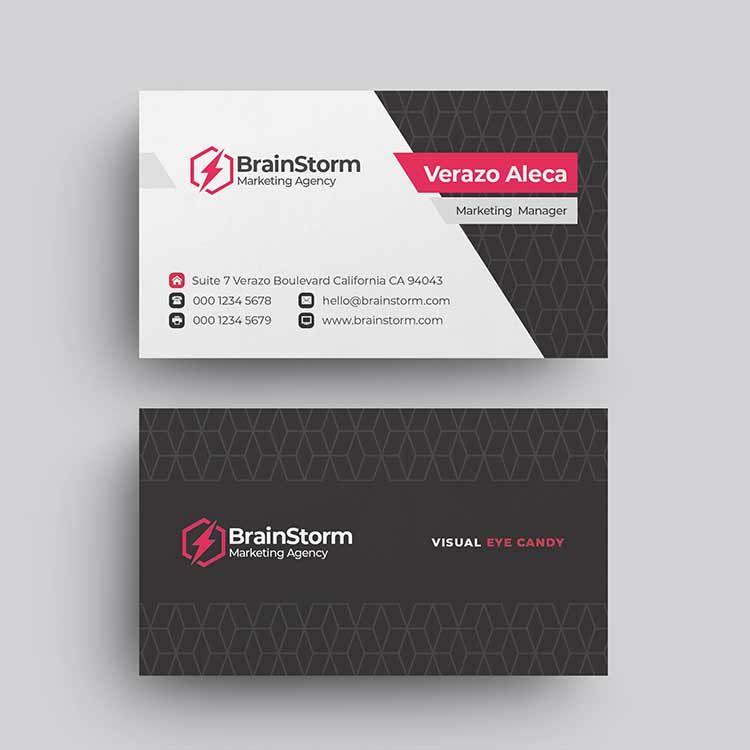 تحميل تصميم كارت شخصى Psd احترافي قابل للتعديل مفتوح المصدر فوتوشوب 2020 م Restaurant Business Cards Business Cards Creative Business Card Template Photoshop