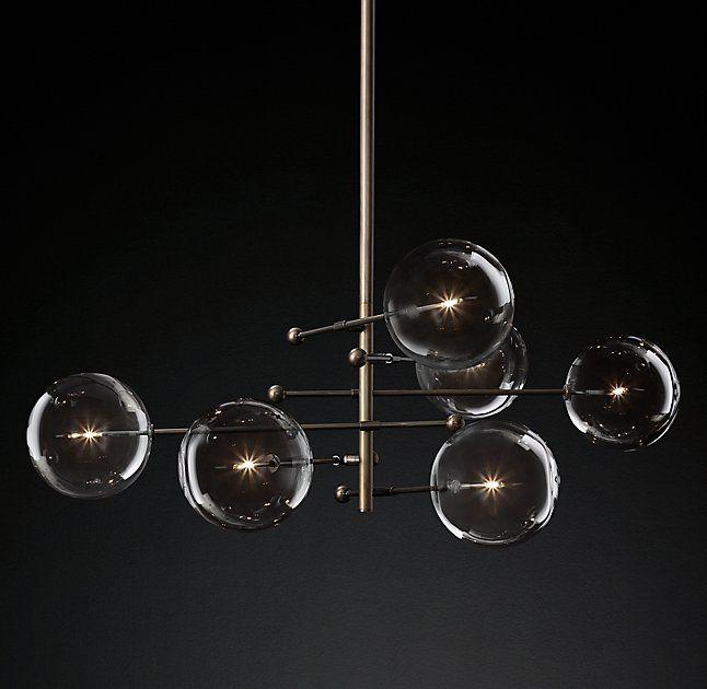 lighting globes glass. Glass Globe Mobile 6-Arm Chandelier 55\ Lighting Globes A