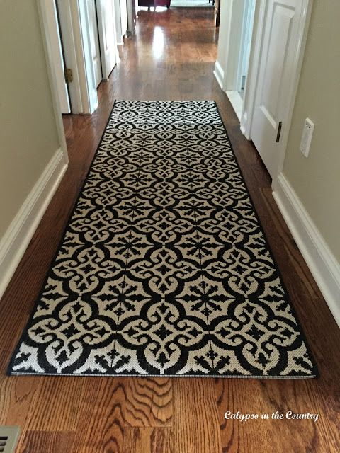 New Hall Runner An Indoor Outdoor Rug With A Tile Look