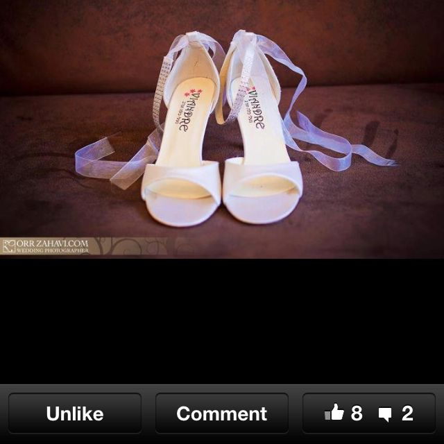 Bridal shoes With satin strap and beads