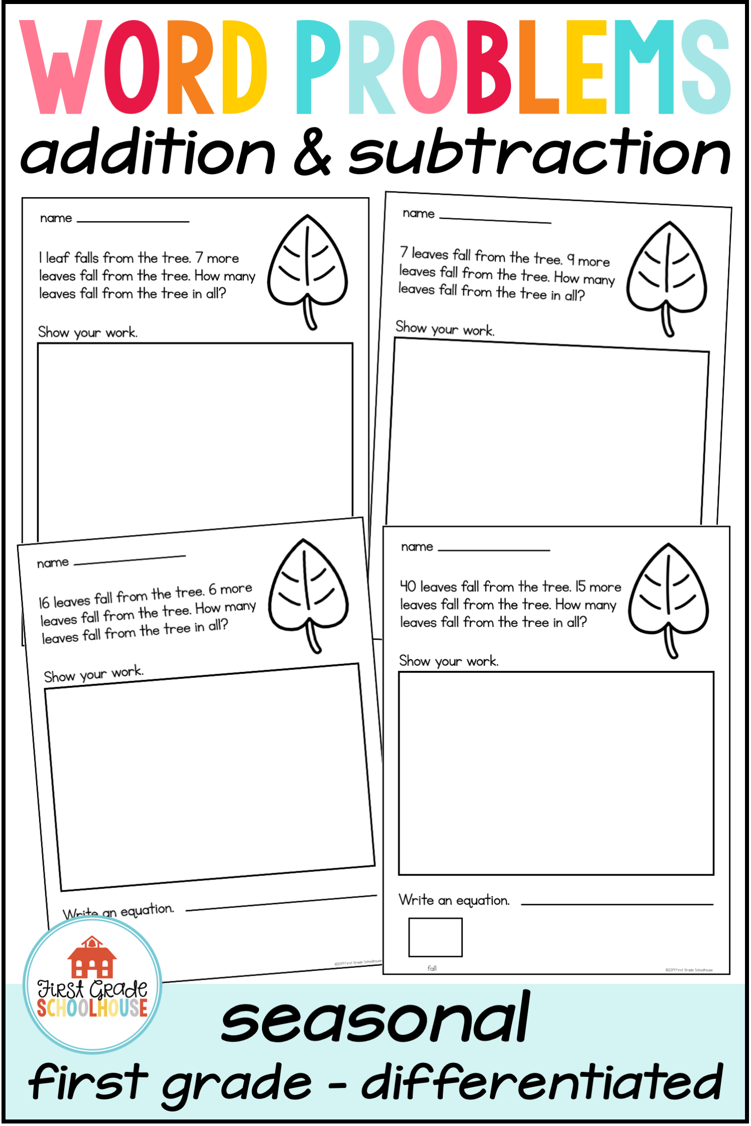 Word Problems Addition And Subtraction