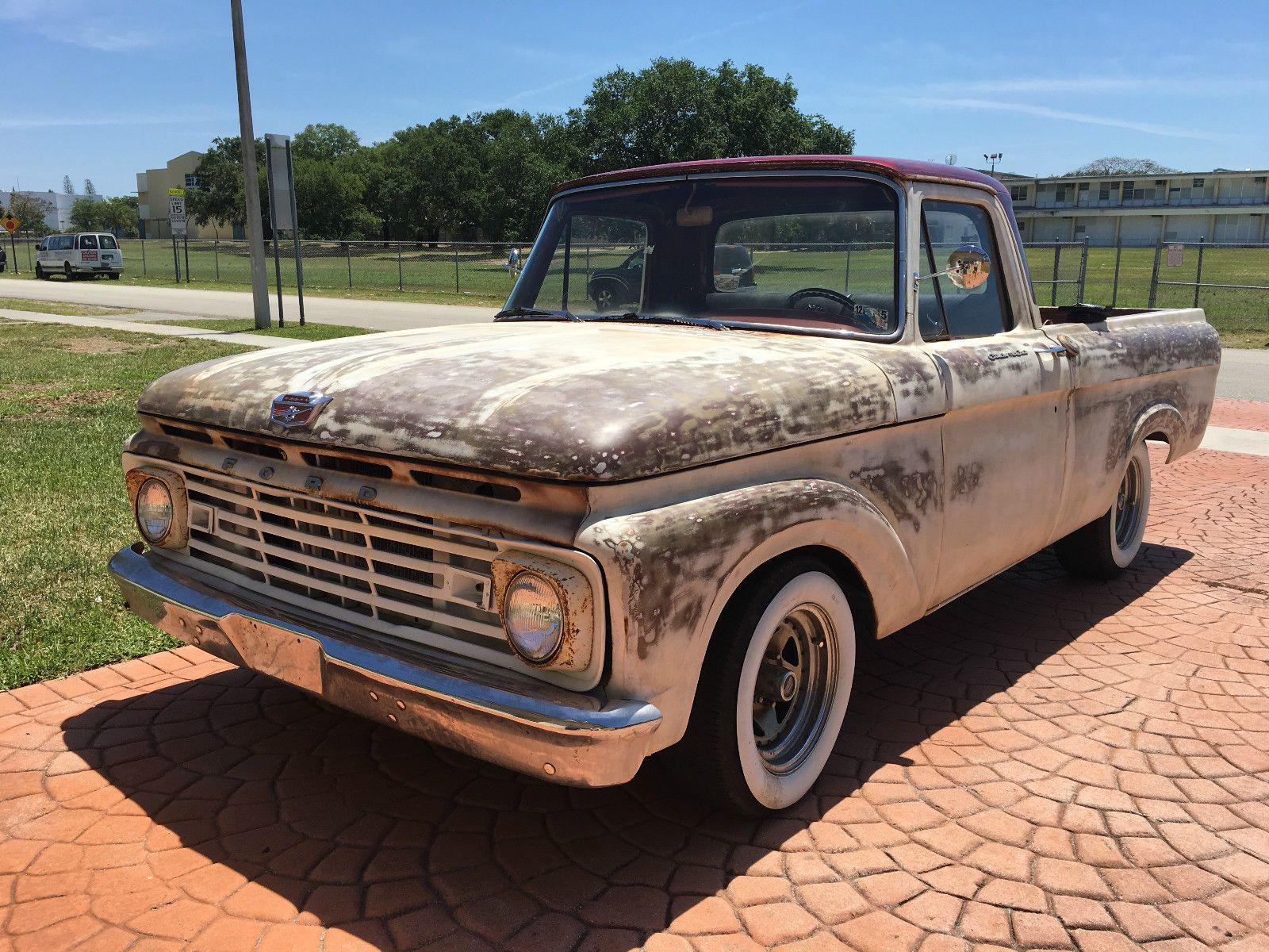 1963 ford f 100 unibody patina truck