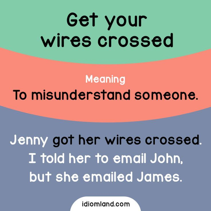 get your wires crossed | Ingles | Pinterest | Wire crosses, English ...