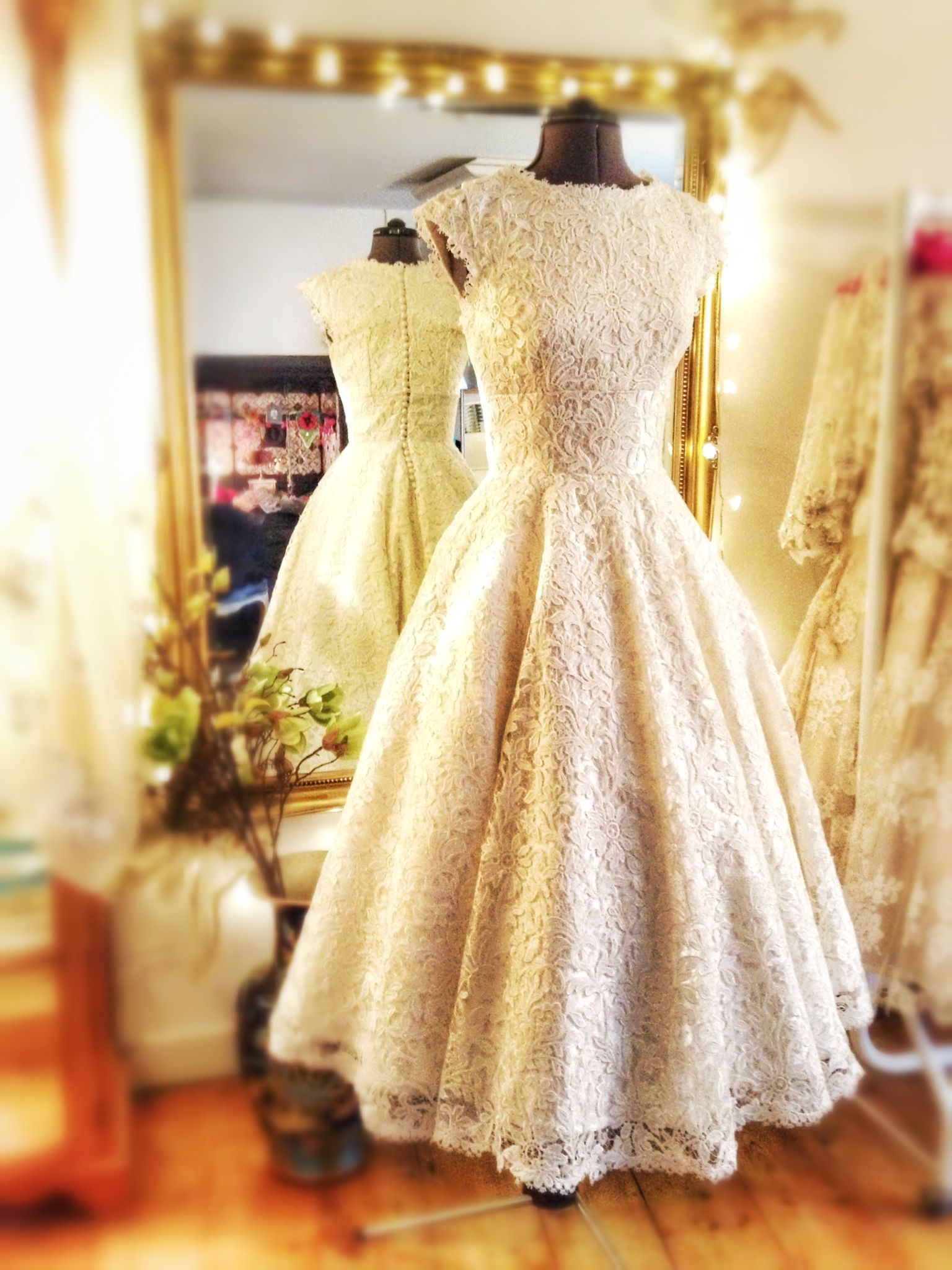 Joanne fleming design uemmau ballerina length wedding dress in