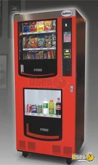 2 Gaines Vm750 Electrical Snack Soda Vending Machines For