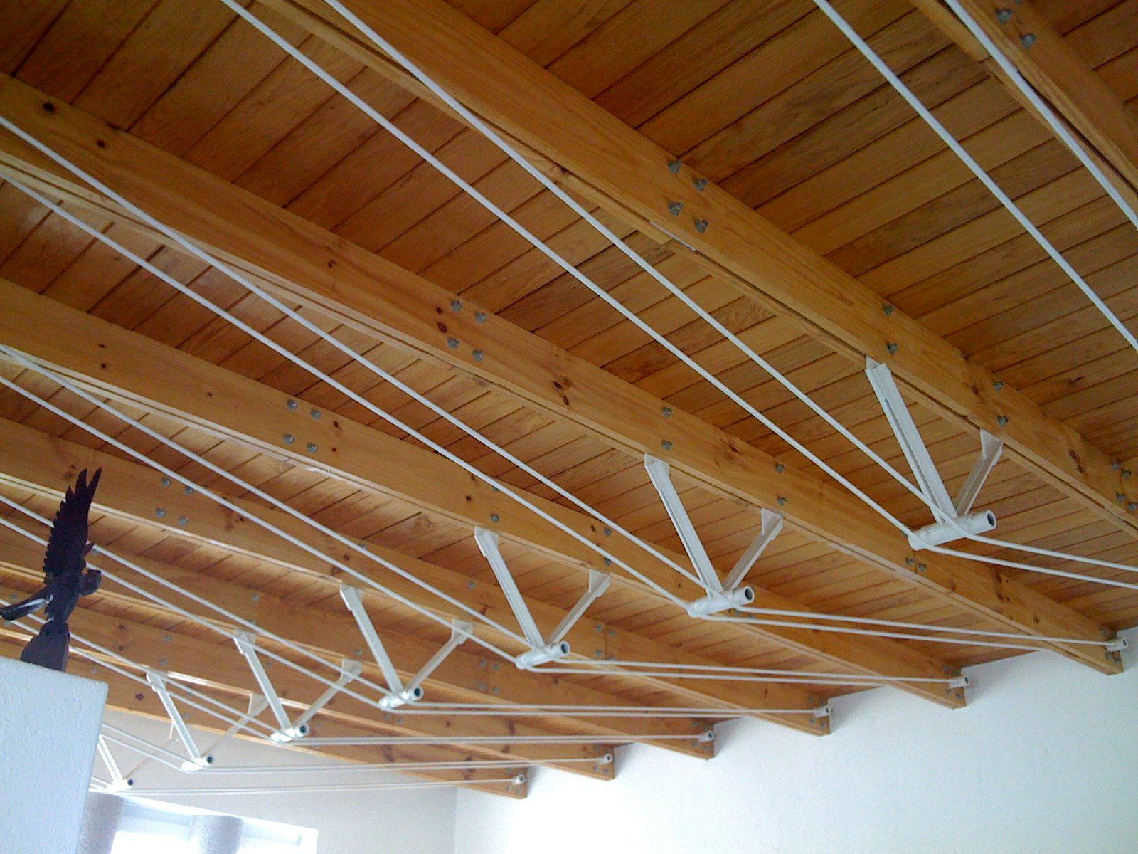 Armaduras híbridas. Tablones de madera con tensores de acero ...