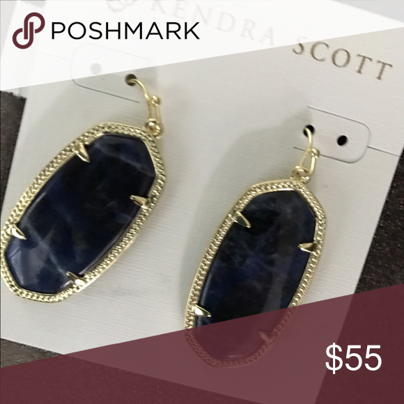 Kendra Scott Elle earrings Blue sodalite stone set in gold Kendra Scott Jewelry Earrings