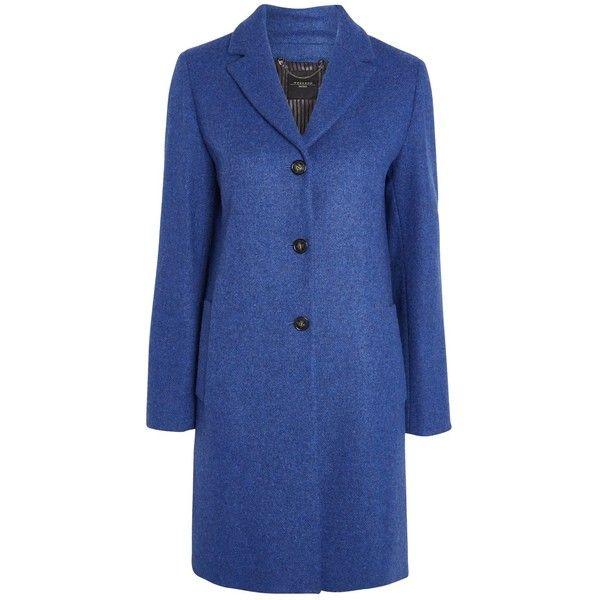 Weekend MaxMara Apotema Coat, Cornflower Blue (26.400 RUB) ❤ liked on Polyvore featuring outerwear, coats, wool blend coat, weekend max mara, print coat, weekend max mara coat and pattern coat