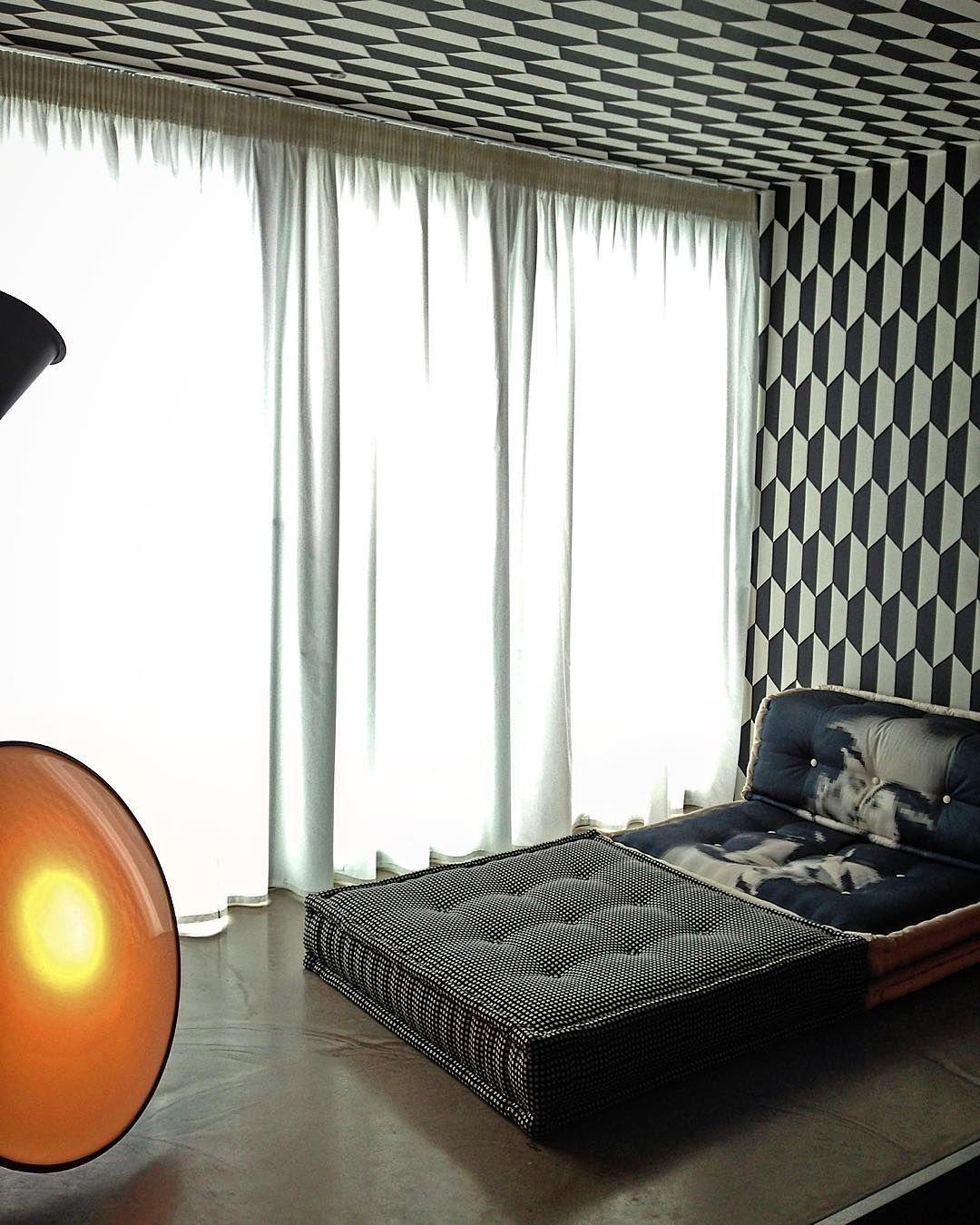 #Detail #Interior #curtains #coleandson #wallpaper #rochebobois #concrete…
