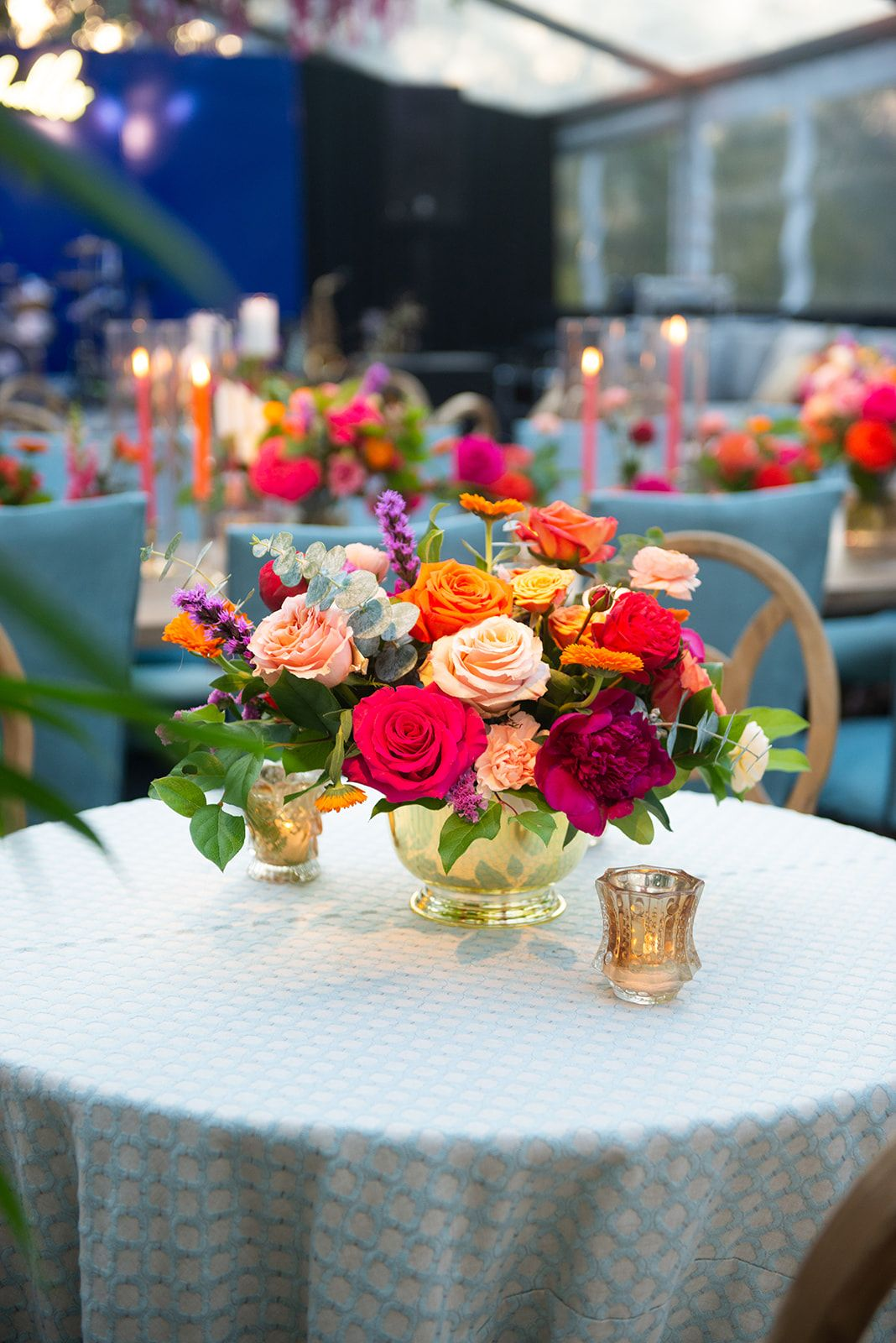 Bistro table fiesta floral and decor in 2020 floral