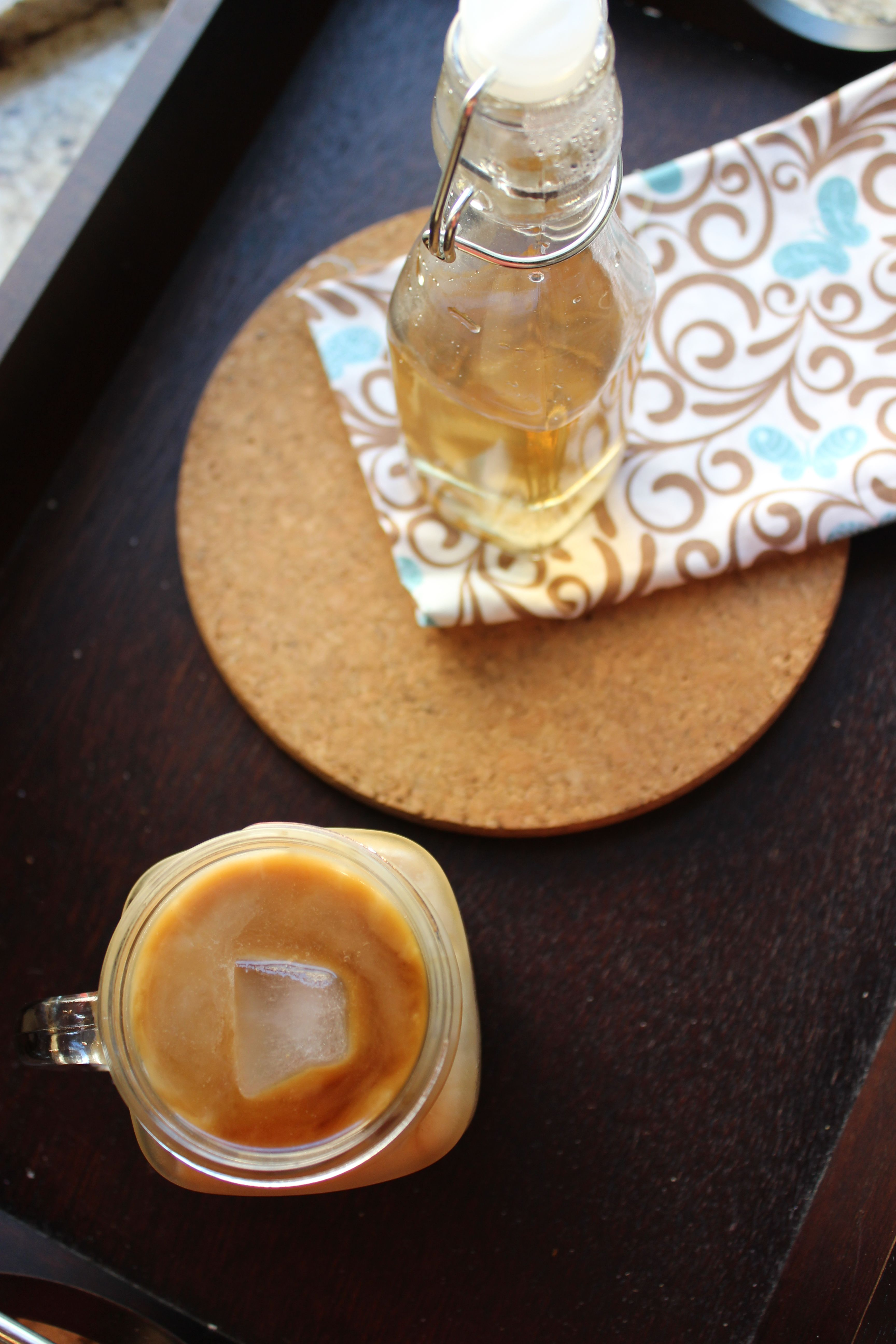 Homemade vanilla syrupperfect for ice coffee homemade