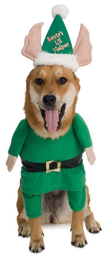 Pets Santa S Helper Costume Pet Costumes Dog Elf Costume
