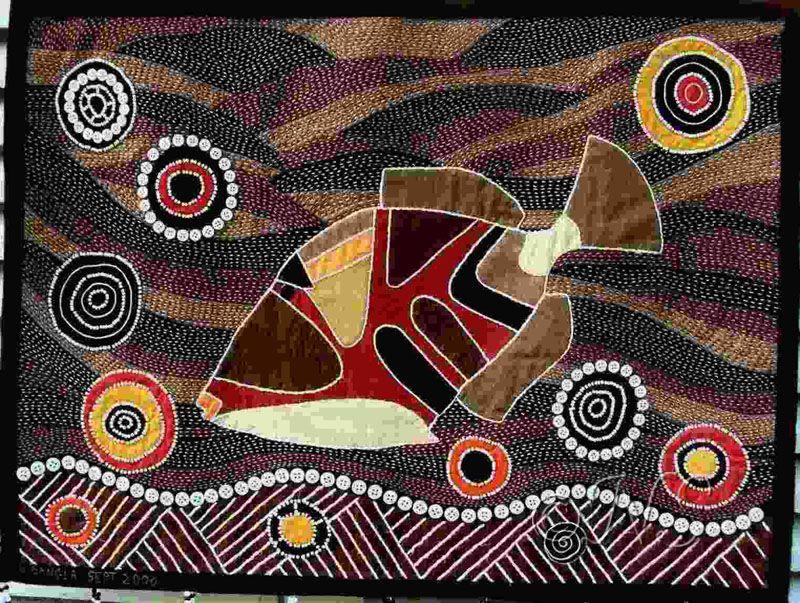 Bevorzugt Une tortue de mer, peinte à la manière des aborigènes d'Australie  NW43