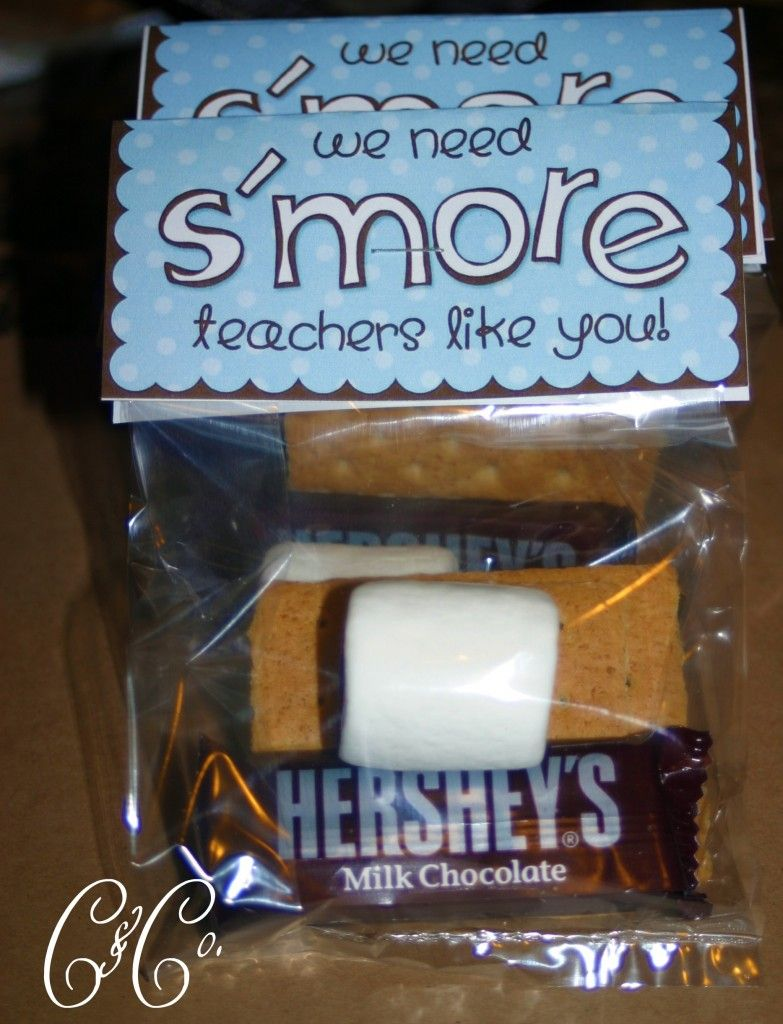 Easy S'Mores Teacher Appreciation Gift- free printable