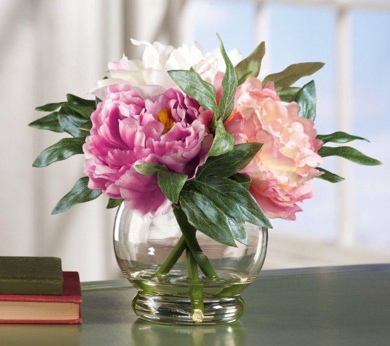 Ramos de flores y arreglos florales para decorar el hogar - Decoracion de jarrones con flores artificiales ...