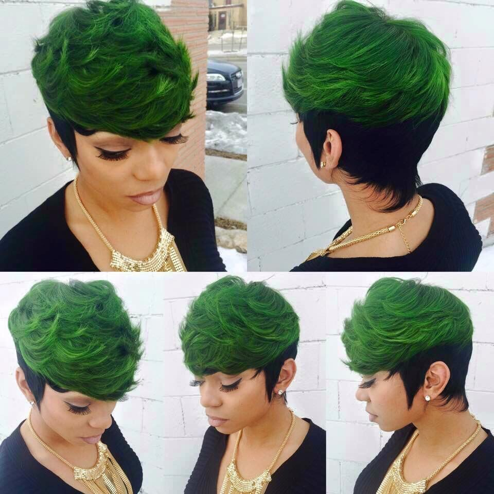 Green Hair Love | Quick weave hairstyles, Sassy hair, 27 piece hairstyles
