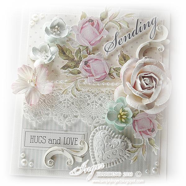 Shabby Chic Sending Thanks Greeting Card