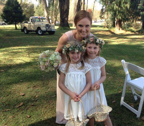 Best little Flower Girl Dress PATTERN sizes aged 2 to 9, Lace flower ...