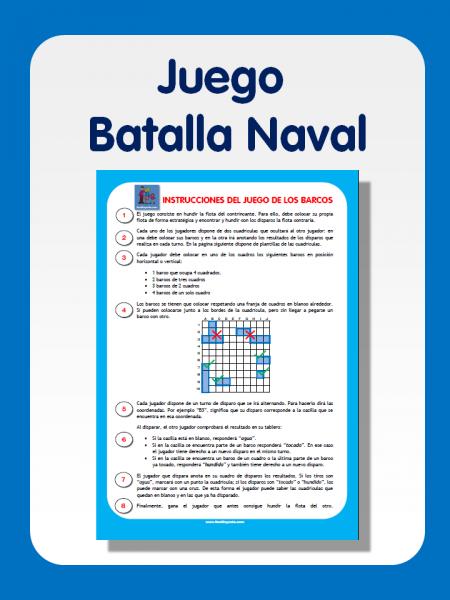 Juego de la batalla naval para imprimir | TICs y Matemáticas ...