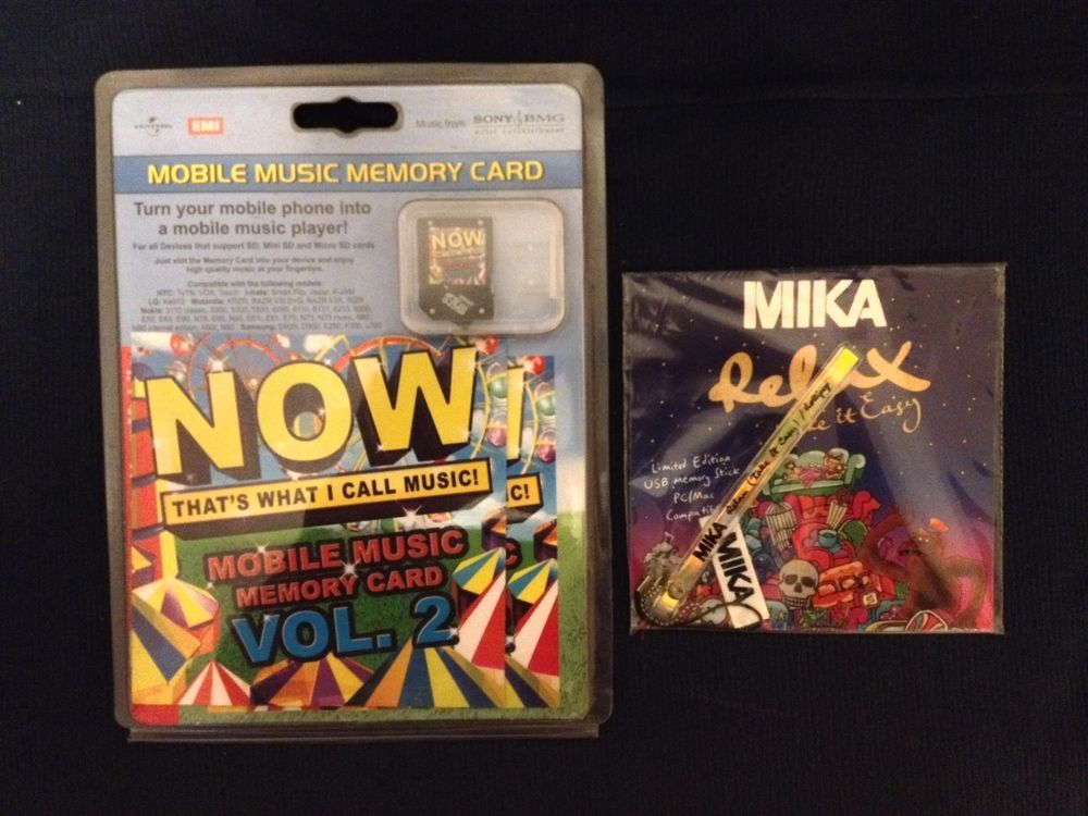 Now That s What I Call Music set with Relax MIKA USB Memory Card Xmas Gift