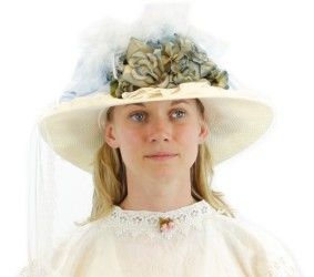 588428ed629 French Blue and Ivory Victorian Touring Hat