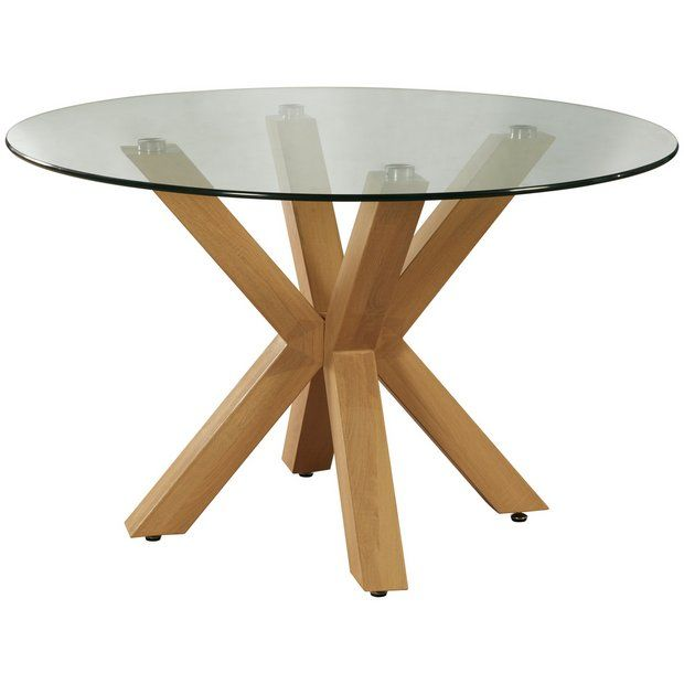 Home New Alden Round Dining Table - Glass In 2019