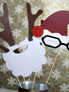 Holiday props for photobooth