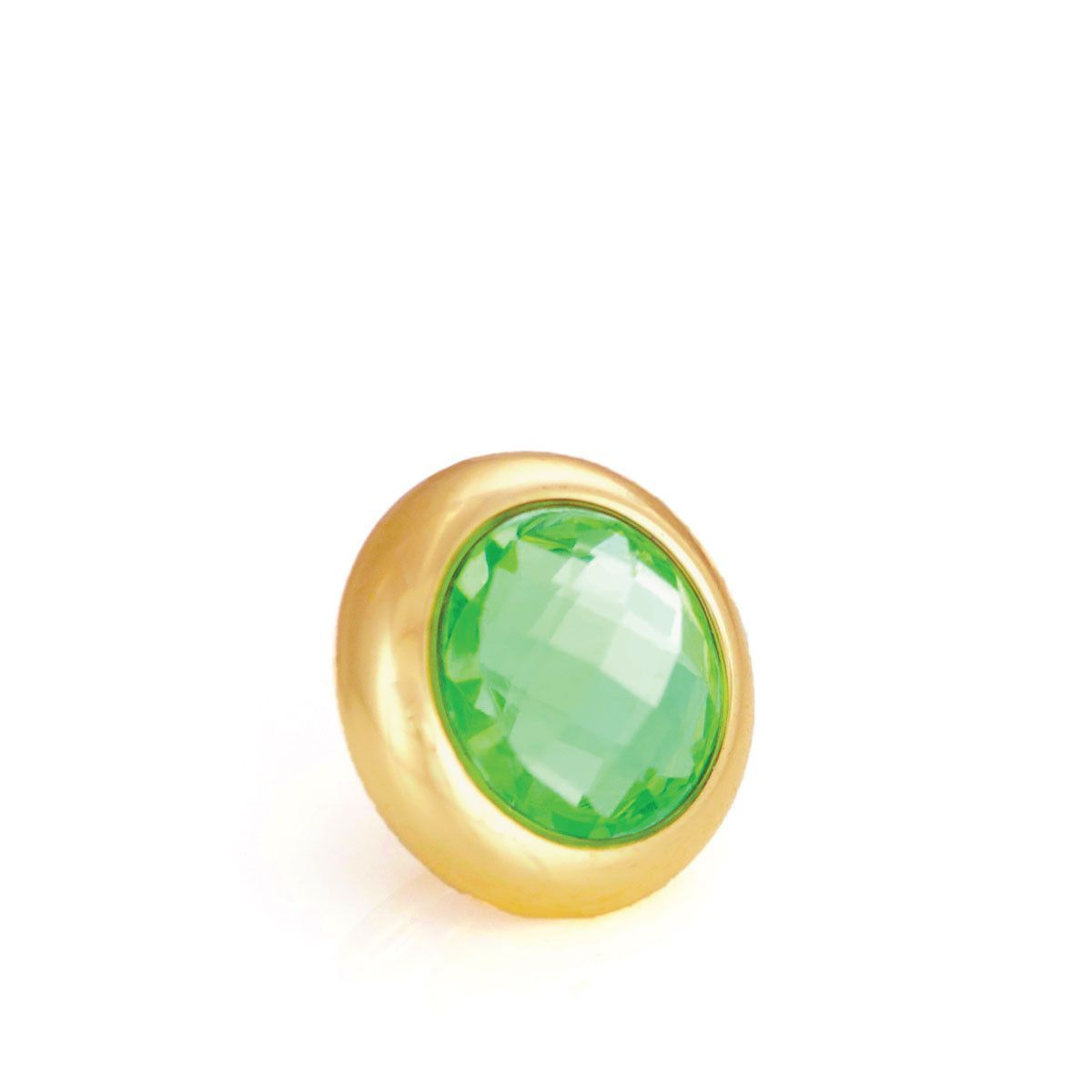 ROLL IN THE GRASS Crystal, Small Gold-Plated Stud