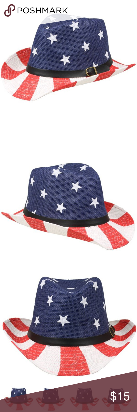 d14f1621607 KIDS AMERICAN FLAG COWBOY HAT 54CM Please check other my auction ...