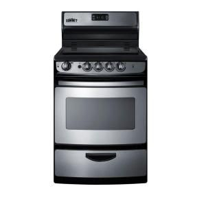 Summit Liance 24 In 3 Cu Ft Electric Range Stainless Steel Rex245ss At The Home Depot Mobile