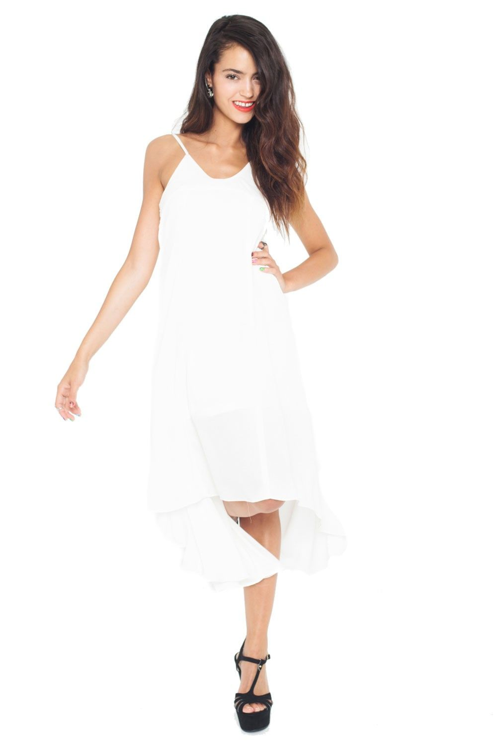 Vestido Soft Feelings blanco.