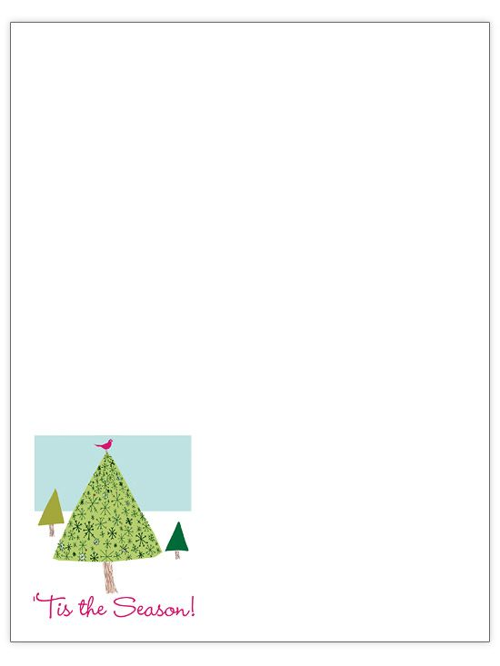 Free Christmas Letter Templates Seasons, Trees and Christmas trees - christmas letter templates