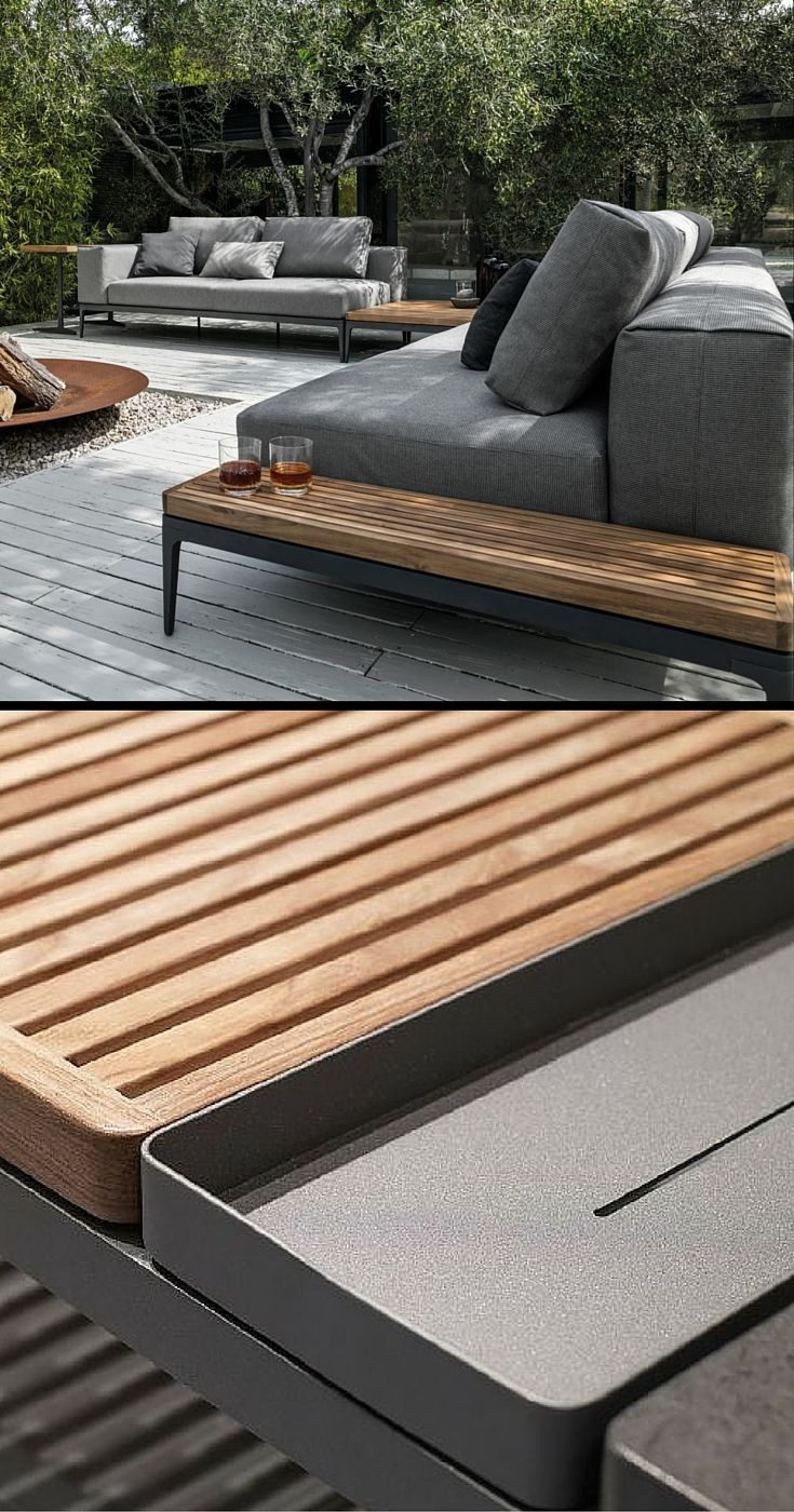 The beauty is in the details. Gloster Grid modular outdoor furniture ...