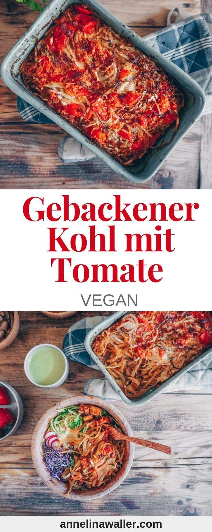 Simple baked cabbage with tomato, vegan recipes german, vegan recipes With ...   - Abnehmen Rezepte einfach - #Abnehmen #baked #cabbage #Einfach #German #recipes #rezepte #simple #Tomato #vegan #veganerezeptemittag