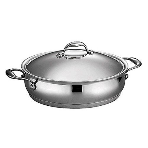 Domus Stainless Steel Oval Braiser with Lid by Tramontina