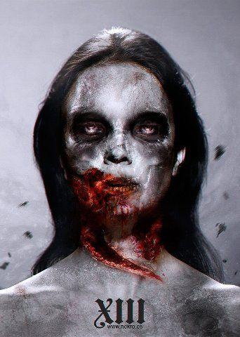 "... aproveitando o temática ""The Walking Dead"", arte gráfica de Nekro"