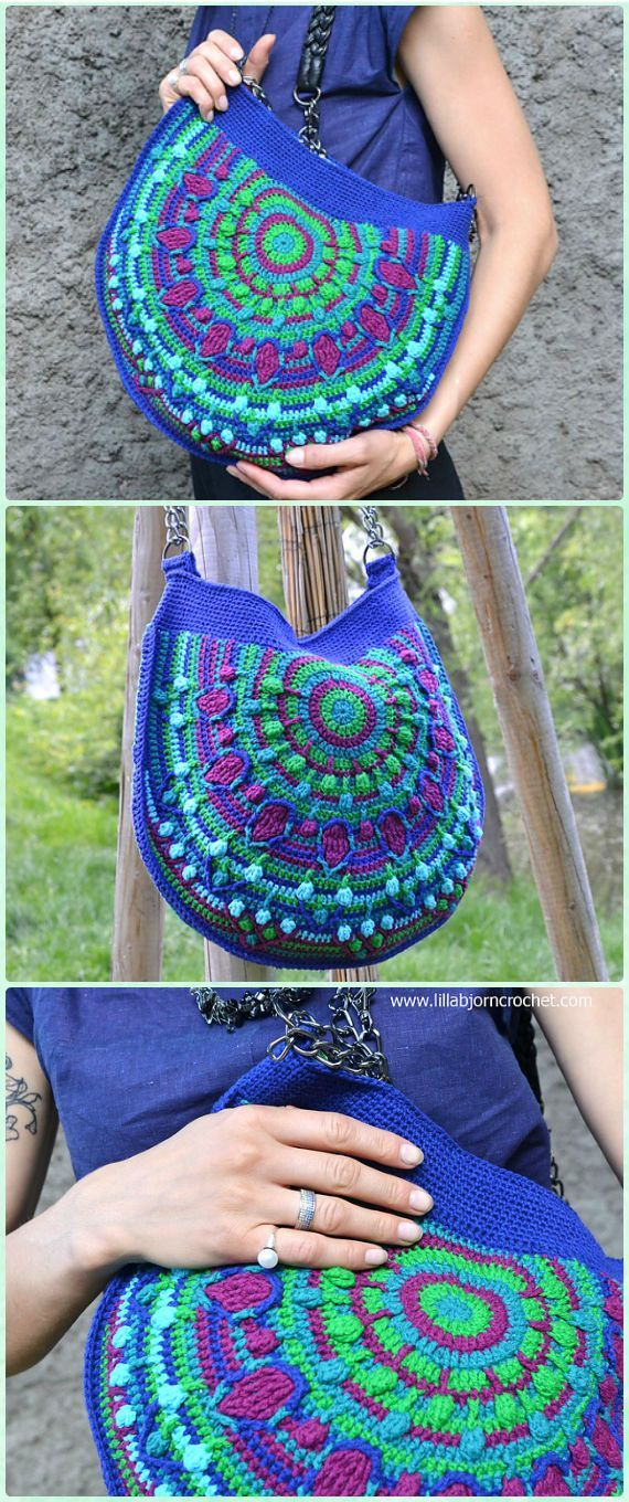 Crochet Peacock Tail Bag Bag Free Pattern Crochet Handbag Free