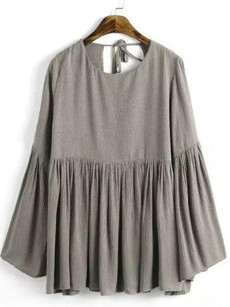 Pierced Cotton-blend Long Sleeved top