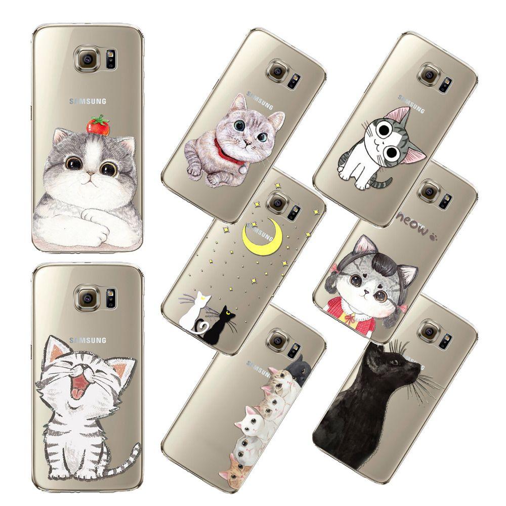 Uwielbiam Slodkie Cat Wzory Tylna Pokrywa Dla Samsung Galaxy S5 S6 S6e S6ep S7 Fundas Capa Sillicon Miekki Pattern Phone Case Cats Phone Case Samsung Galaxy S5