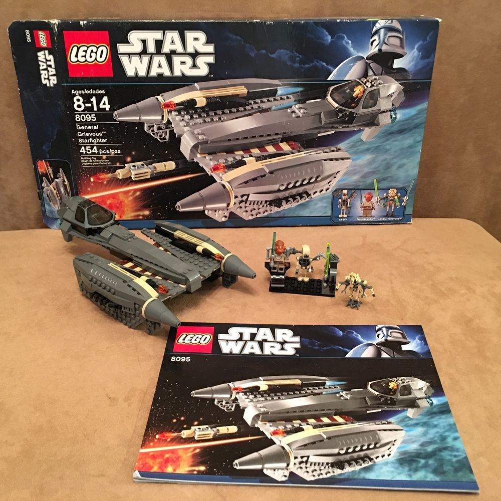 8095 Lego Complete General Grievous Starfighter Box Instructions