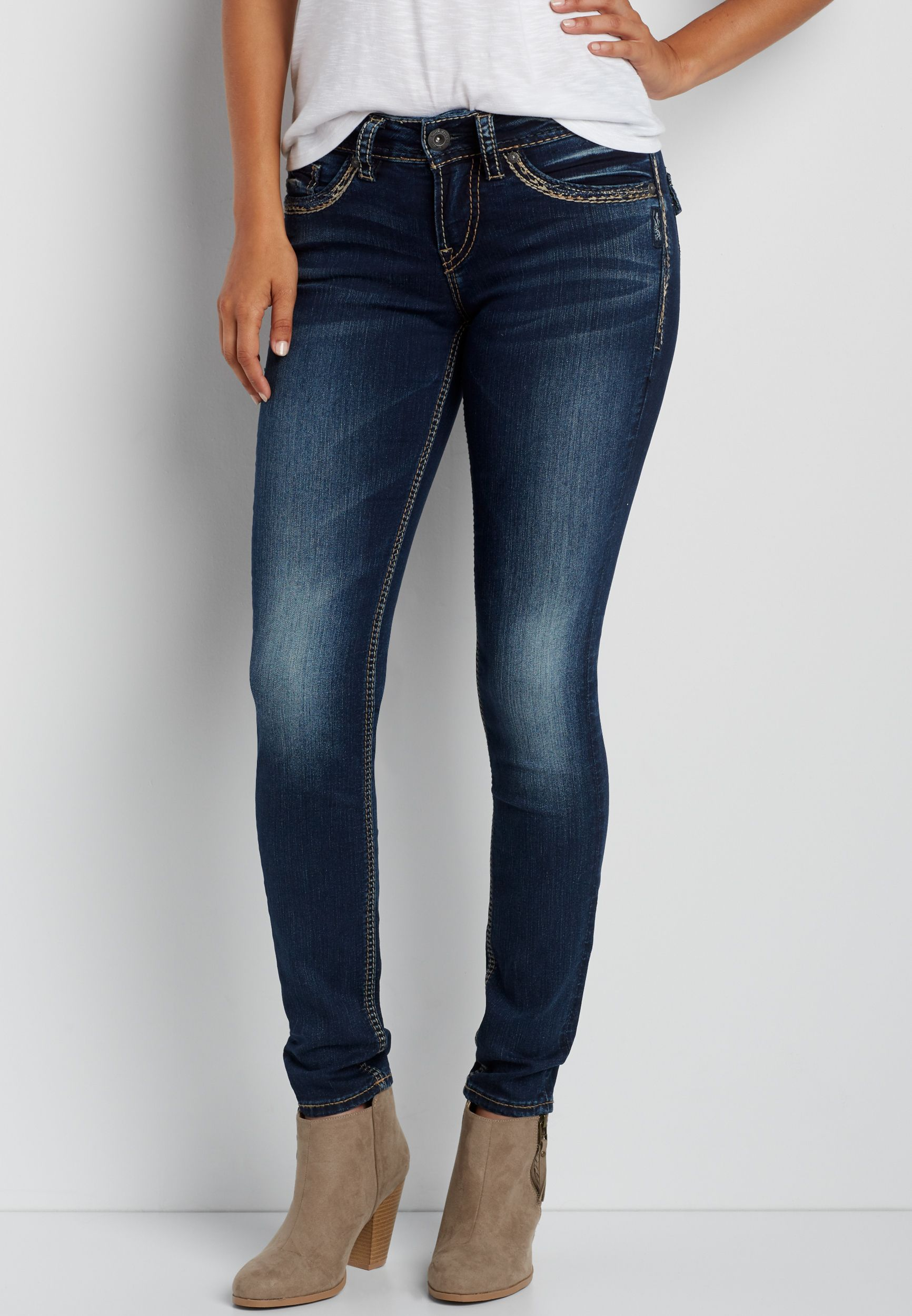 feb2daff Silver Jeans Co.® Suki skinny jeans with back flap pockets ...