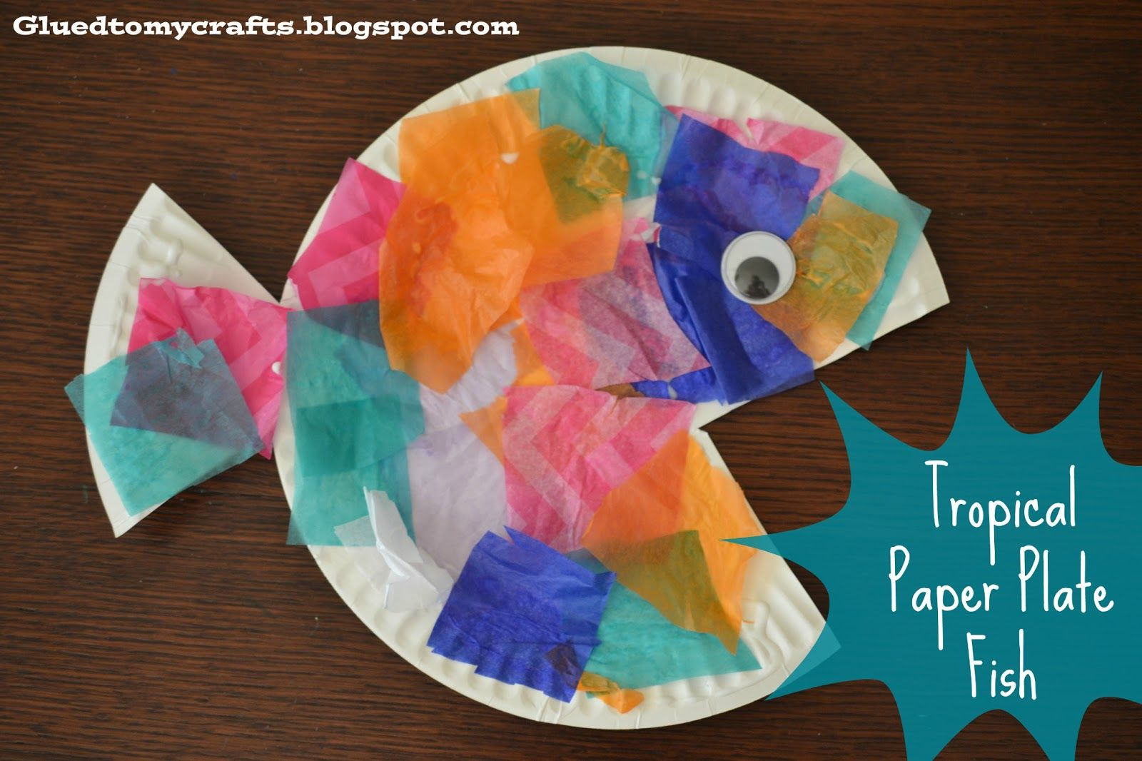 Tropical paper plate fish kid craft paper plate crafts tropical fish paper plate craft jeuxipadfo Images