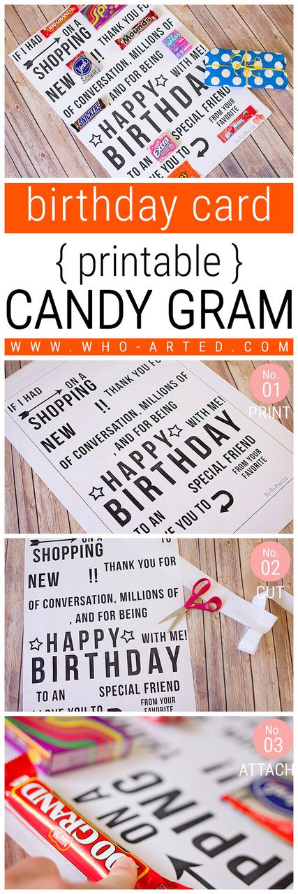 Free Printable This Birthday Card Candy Gram Had Us All Laughing