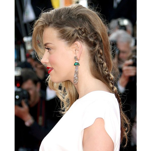 Celebs' Hot Braided Hairstyles on the Red Carpet US Weekly ❤ liked on Polyvore featuring hair