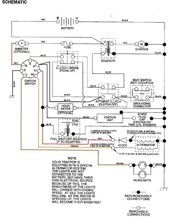 wiring diagrams for craftsman riding mower
