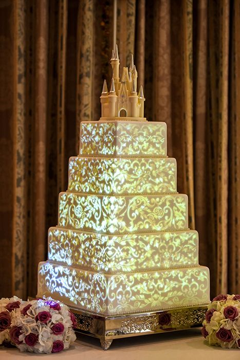 With wedding cake animation that scrolls over icing like a mini ...