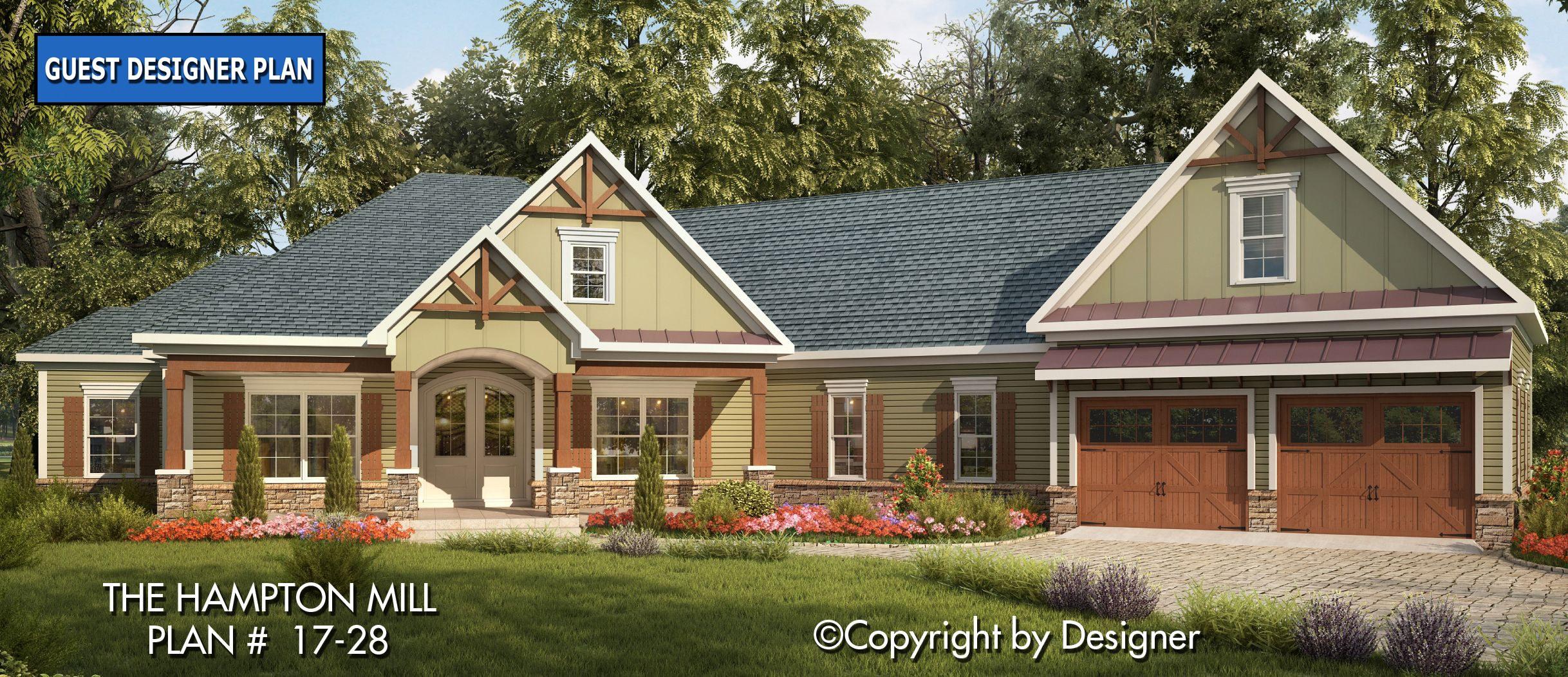 Hampton Mill House Plan 17 28 Kt Garrell Associates Inc Craftsman Style House Plans Coastal House Plans House Plans