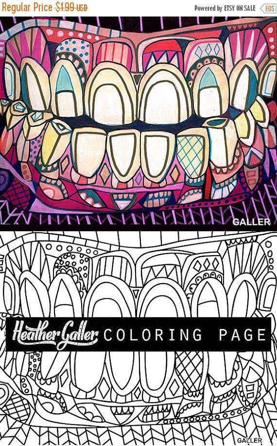 Dental coloring, Dentist Teeth Tooth Anatomy coloring book, adult ...