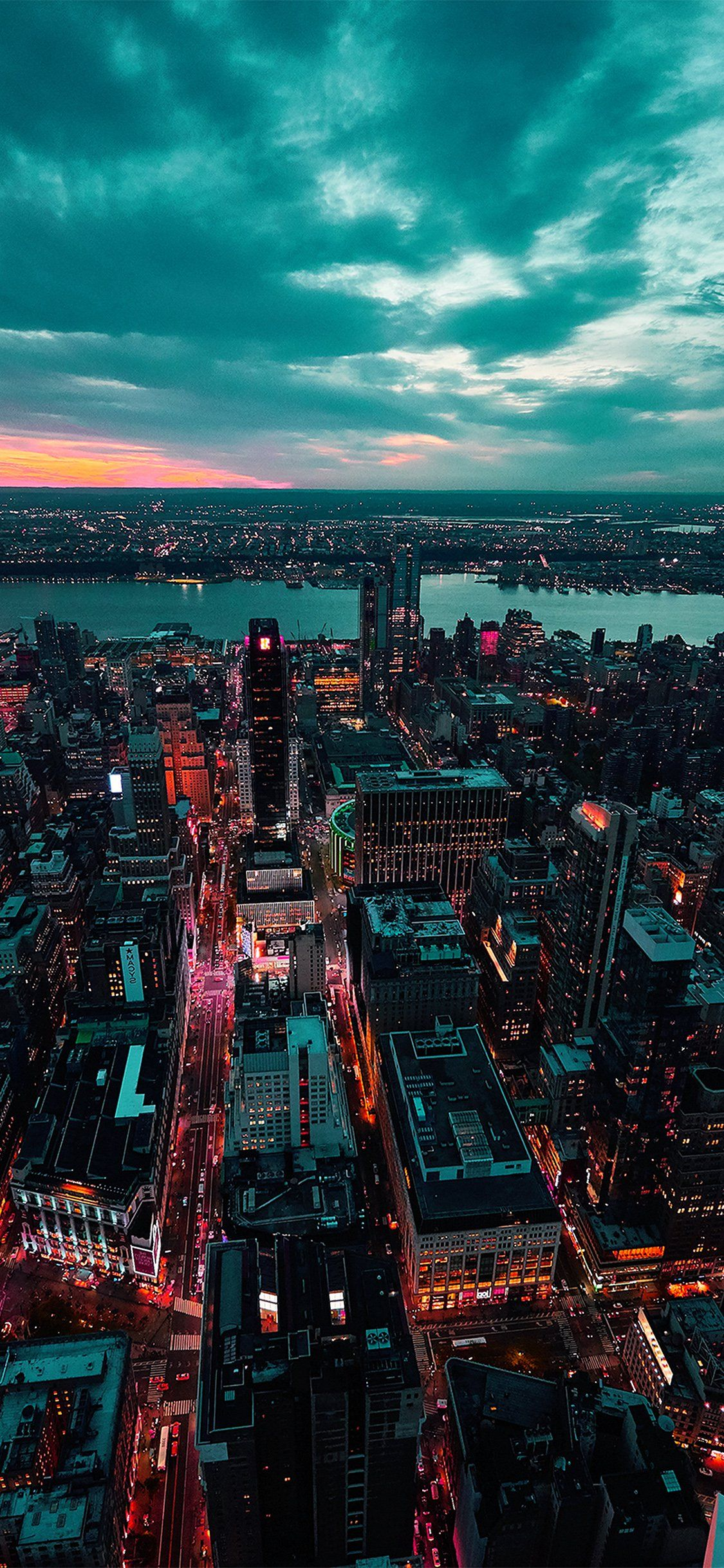 Iphonexpapers Com Apple Iphone Wallpaper Ne53 City View Sunset River Sky Cloud Nature Green Red City Aesthetic Sunset Iphone Wallpaper City Iphone Wallpaper